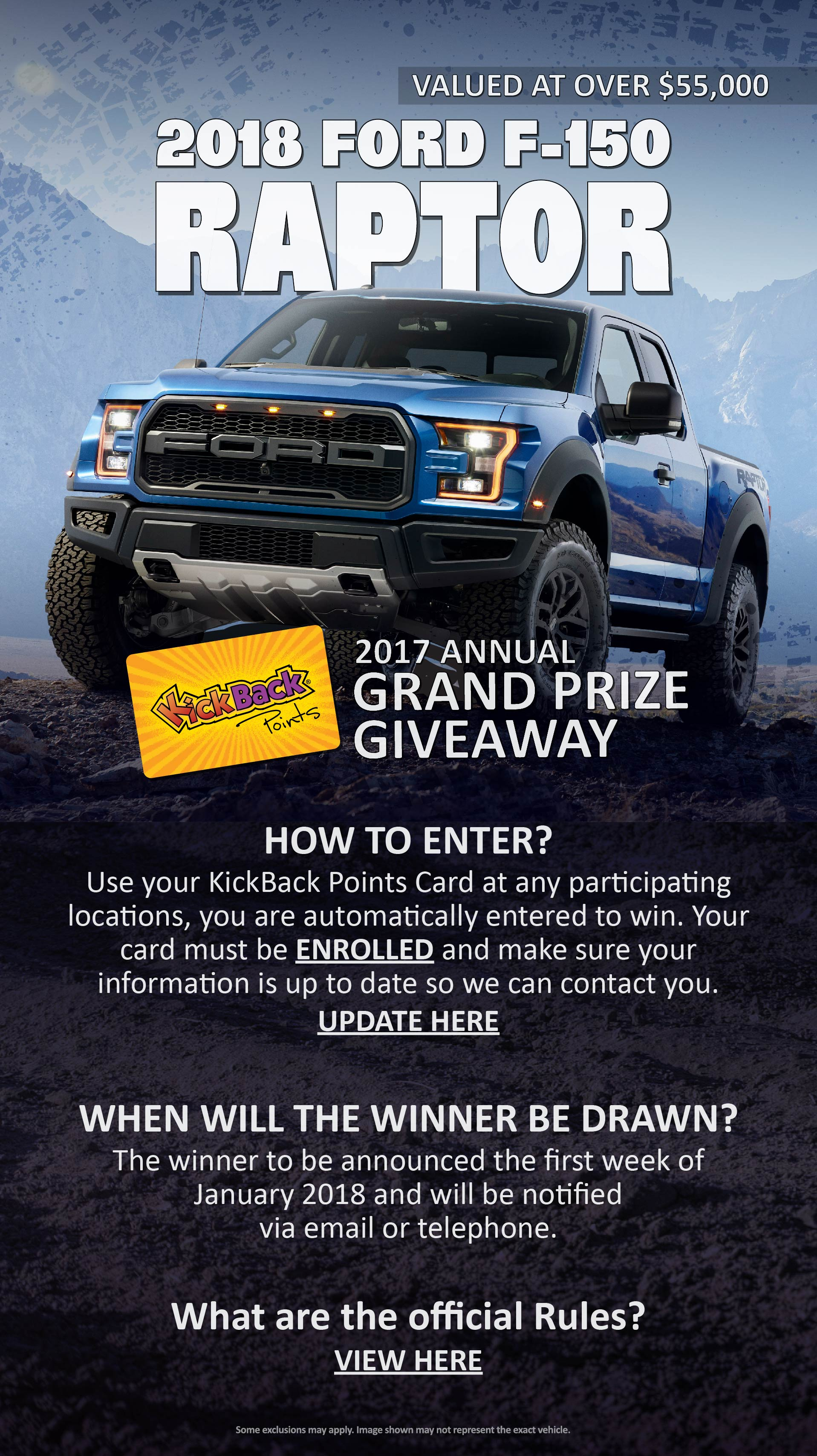 KickBack Points 2017 Annual Grand Prize Giveaway